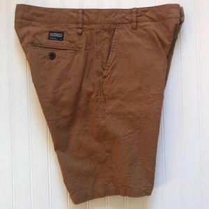 "EZEKIEL  Flat Front Brown ""Textured"" Shorts!   32"